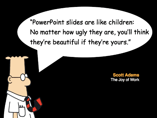 Dilbert on PowerPoint