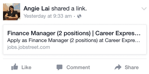 Facebook Job Ad