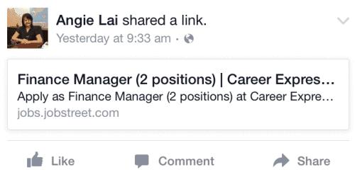 Facebook Job Ad