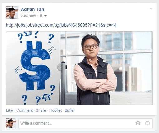 Facebook Post with Landscape Picture