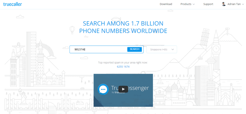 Reverse searching a phone number