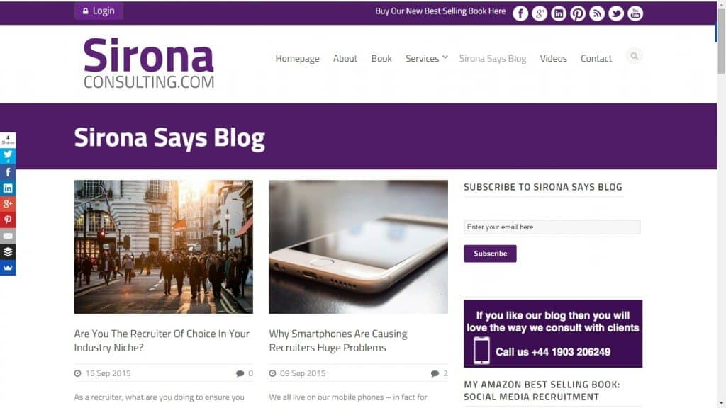 Sinora Says Blog
