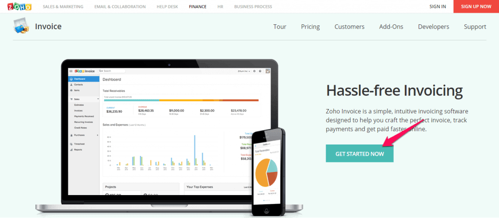 Zoho Invoice Get Started Now
