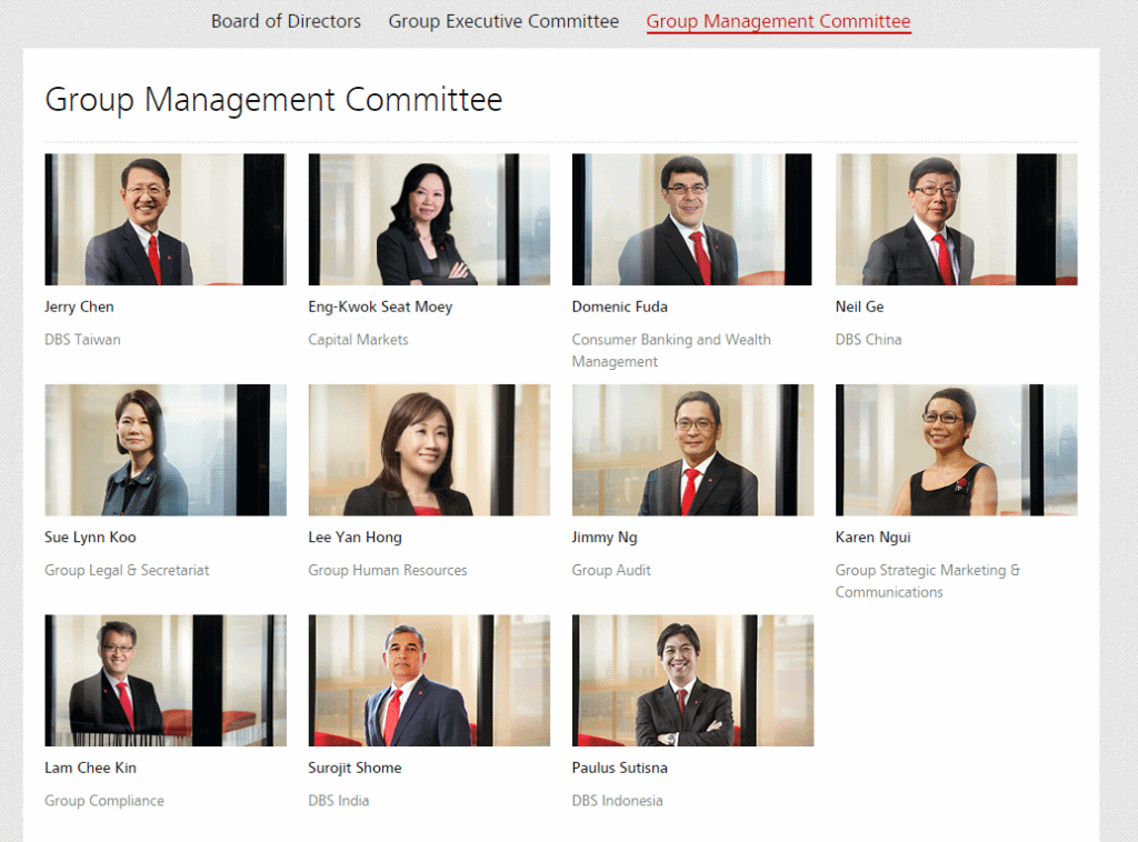 DBS Group Management Committee