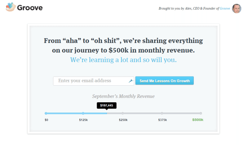 Detailing their monthly revenue journey