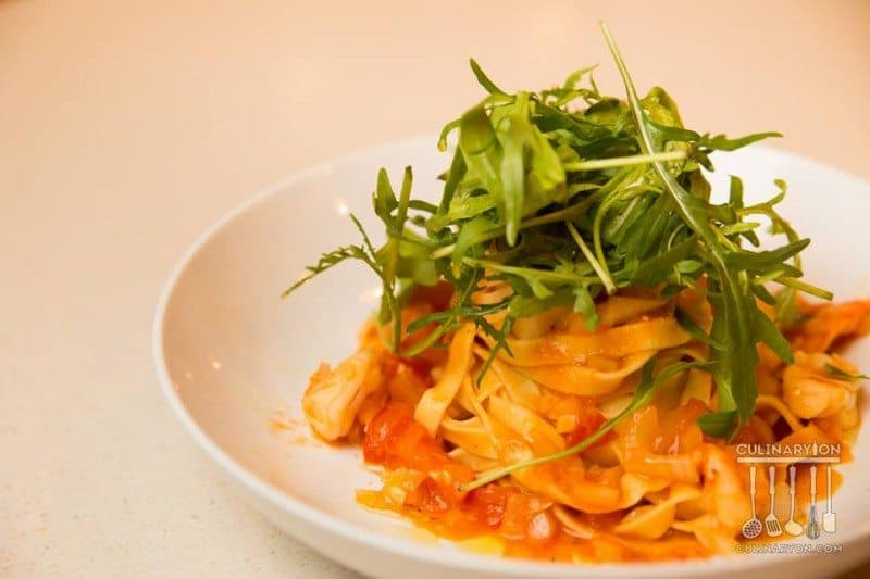 Pasta with Shrimps & Ruccola