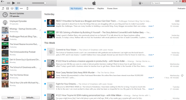 podcasts on my itune