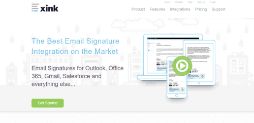 Xink Email Management Solution Home Page