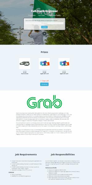 Grab Full Stack Job on HackerTrail