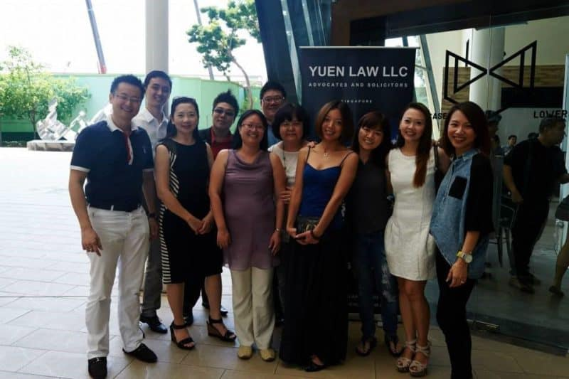 Legal entrepreneur samuel yuen with his team
