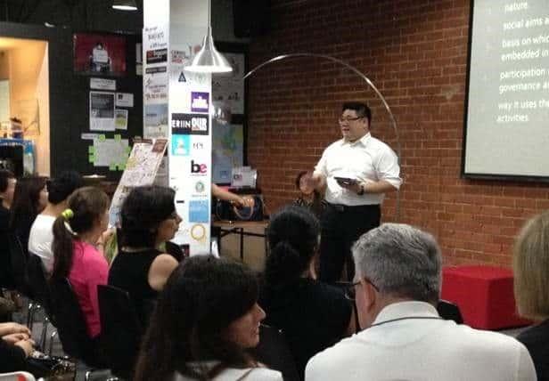 legal entrepreneur samuel yuen giving a talk