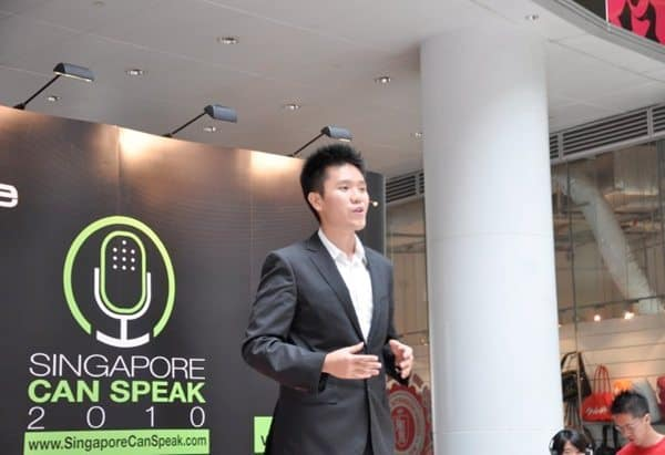 Benjamin at Singapore Can Speak 2010