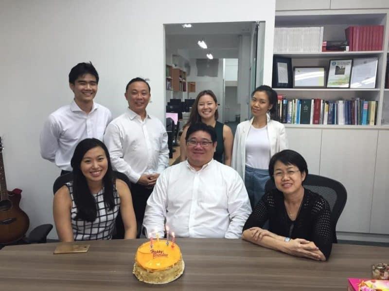 Legal entrepreneur Samuel with his team 2