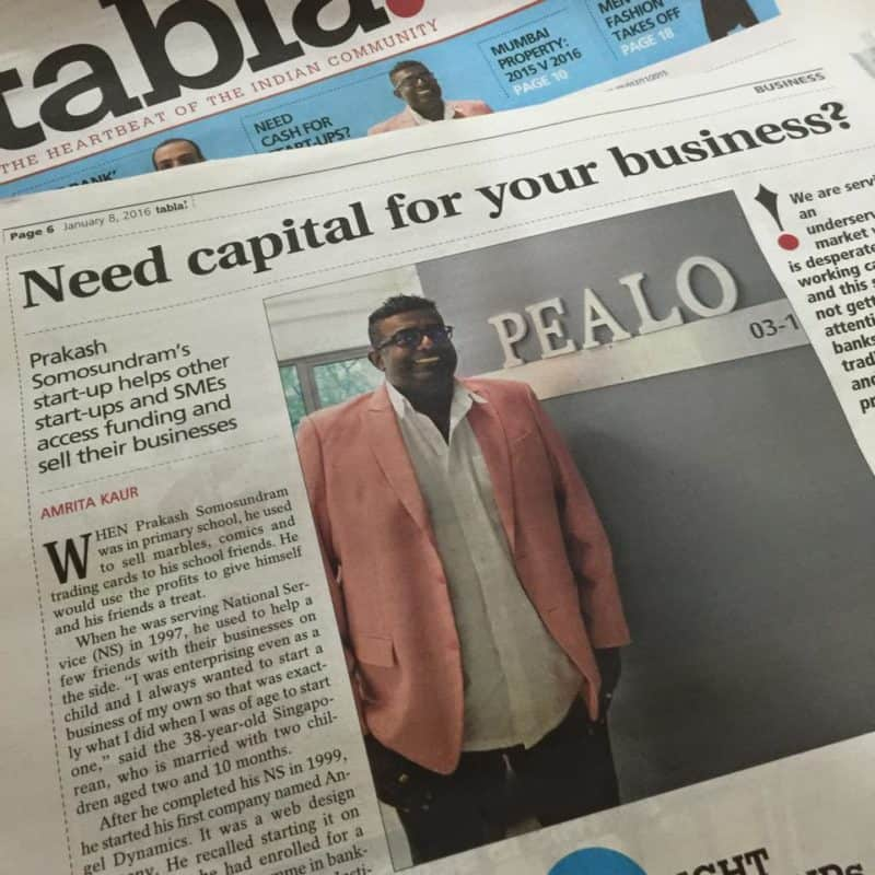 Fintech Pealo Founder & CEO Prakash Somosundram featured in the newspaper