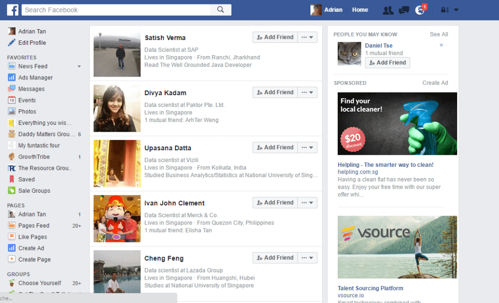 Hiretual_Facebook_Boolean_search_results