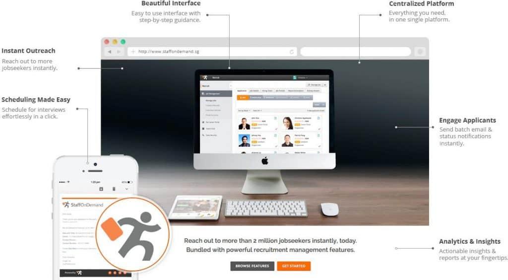 StaffOnDemand home page