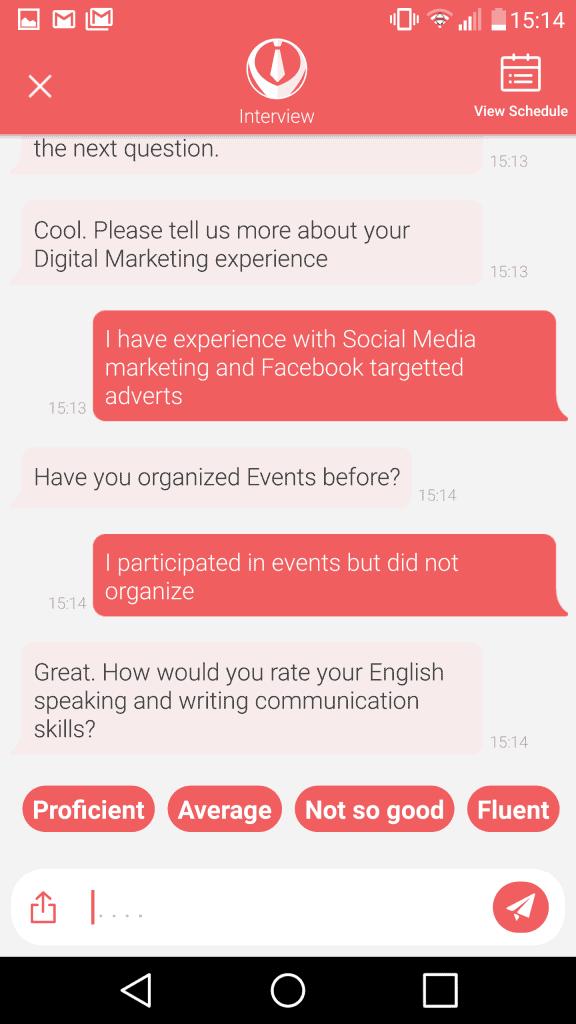 grabjobs job interview chat bot
