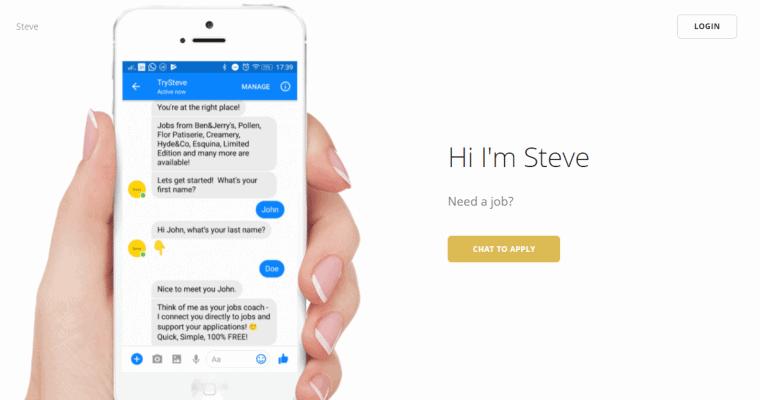 Chatbot Recruitment via Facebook Messenger